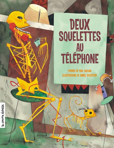Deux squelettes au téléphone