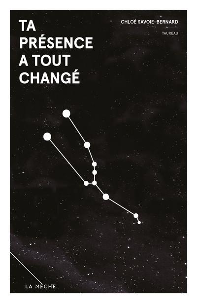Ta présence a tout changé - Simon Boulerice Mélanie Michaud Mélopée B. Montminy Chloé Savoie-Bernard Luc Paradis - La Mèche - 9782897071042